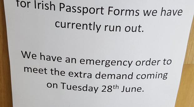 Brexit Belfast Post Office Runs Out Of Irish Passport Application