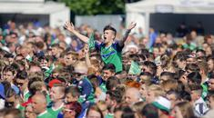 Fans gather at the Northern Ireland fanzone as they take on Wales in the Euro 2016 final 16 game. ( Photo by Kevin Scott / Presseye)