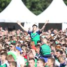 Northern Ireland fans take over the Boucher playing fields to support the green and white in their Euro 2016 game against Wales. Picture Matt Bohill Pacemaker Press