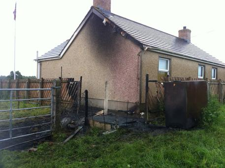 Muckery Orange hall, located near Derrytrasna, was the target for an attempted arson attack.