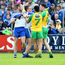 Gripping stuff: Donegal and Monaghan players in a scuffle at Breffni Park