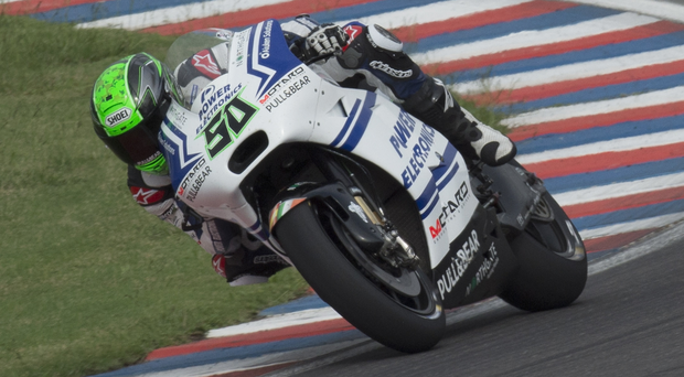 On course: Eugene Laverty