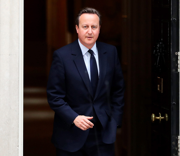 PM David Cameron leaves 10 Downing Street yesterday