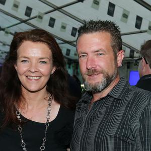 Pictured at the Bushmills Marquee at the Belfast City Blues Festival are Clare Anderson and Christian Elcome