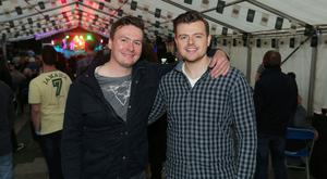 Pictured at the Bushmills Marquee at the Belfast City Blues Festival are Stephen Kane Mark McCabe