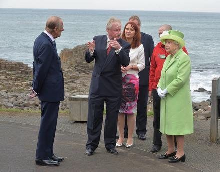 Her Majesty the Queen and the Duke of Edinburgh visit the Giants Causeway today (Tuesday). Photo by Aaron McCracken/Harrisons