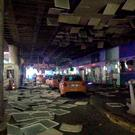 An entrance of the Ataturk Airport in Istanbul after explosions, Tuesday, June 28, 2016. Two explosions have rocked Istanbul's Ataturk airport, killing at least 10 people and wounding around 20 others, Turkey's justice minister and another official said Tuesday. (DHA via AP) TURKEY OUT