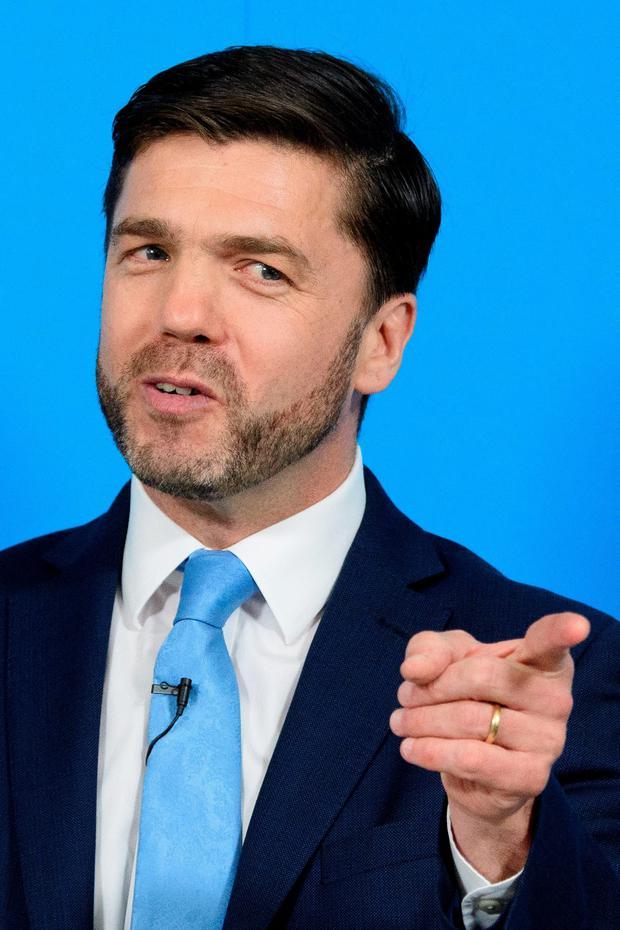 British Work and Pensions Secretary and Conservative MP, Stephen Crabb, speaks at a news conference in central London on June 29, 2016, where he announced his candidacy for the leadership of the Conservative Party. / AFP PHOTO / LEON NEALLEON NEAL/AFP/Getty Images