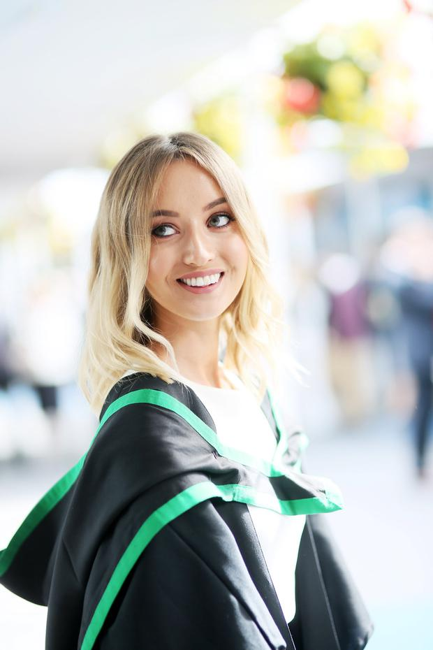 Graduating from Ulster University with a degree in Marine Science BSC is Sarah Bond from Ballycastle. Pic By Paul Moane/ Aurora PA