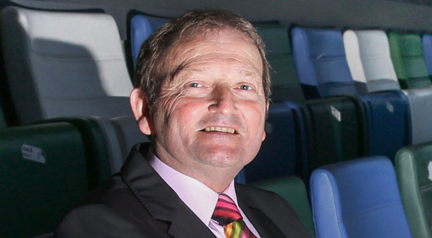 In the hotseat: David Martin at Windsor Park after becoming the new IFA President