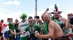 Northern Ireland fans take over Paris ahead of their last-16 game against Wales last weekend