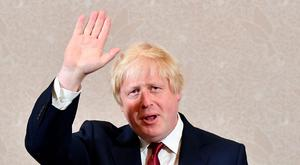 Brexit campaigner and former London mayor Boris Johnson waves after addressing a press conference in central London on June 30, 2016. Pic AFP PHOTO / LEON NEALLEON NEAL/AFP/Getty Images