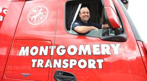Dessie Smith, a driver with the Montgomery Group's distribution department