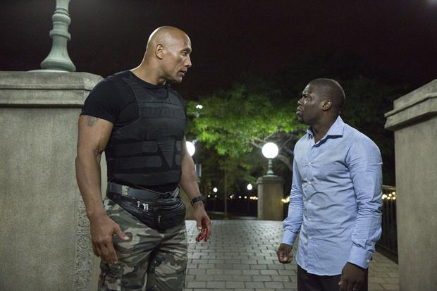 Dwayne Johnson as Bob Magnum and Kevin Hart as Calvin Joyner in Central Intelligence. Photo: PA Photo/Universal