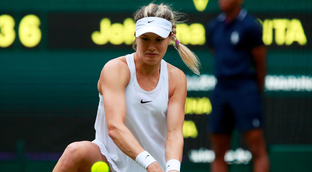 Moving ahead: A rejuvenated Eugenie Bouchard is into the third round