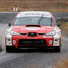 Ups and downs: Garry Jennings has had a rollercoaster year and promises that his Subaru will be ready for the Lurgan Park Rally after a crash in Donegal