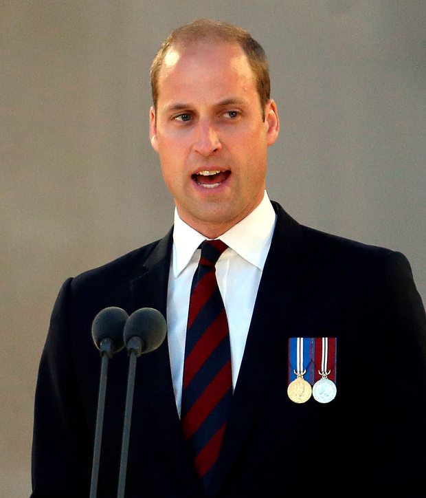 Prince William speaks at the Somme Centenary commemorations at the Thiepval Memorial