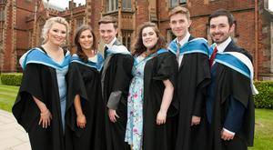 Music students, Rachel McComb, Olivia Brown, James McConnell, Megan McBride, Jordan Ballentine and Matthew Dodds will graduate from Queens today.