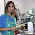 Myleene Klass scrubs up to work with nurses in the Royal.
