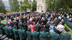 Pictured crowd at today's service at the Ulster Tower, Thiepval, France Copyright: Liam McBurney/RAZORPIX
