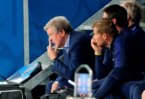 Down and out: Roy Hodgson's tenure as England boss came to a miserable end after his side's poor showing in France