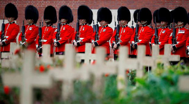 Members of the Irish Guards. Photo: Phil Noble/PA Wire