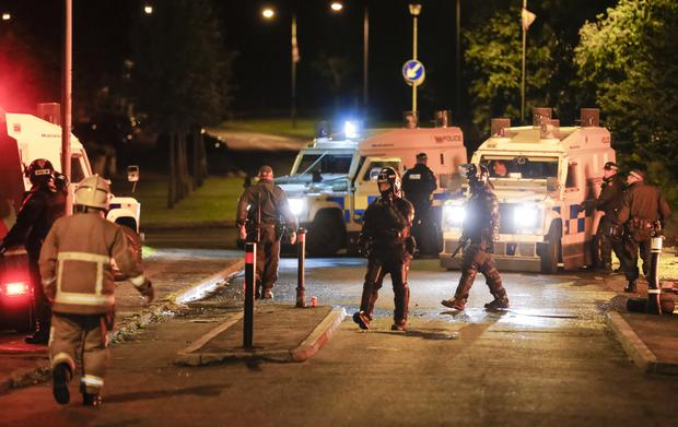 Police officers in riot gear deal with overnight disturbances in the Woodburn and the Castlemara estates in Carrickfergus on July 02, 2016 ( Photo by Kevin Scott / Presseye )