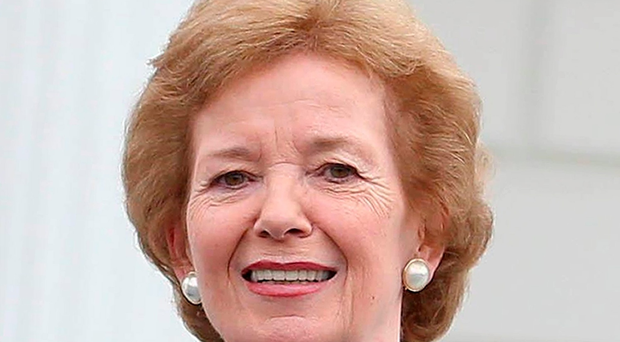 Former president of Ireland Mary Robinson who has said it is unfair that Ethiopians are suffering the worst effects of climate change as 10 million people are hit by food shortages following the worst drought in 50 years. Niall Carson/PA Wire