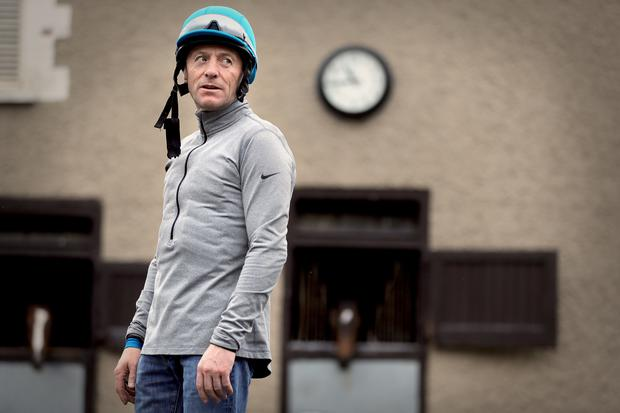 End of the road: Kieren Fallon in Michael O'Callaghan's yard