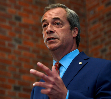 Nigel Farage makes a speech in London yesterday announcing that he is stepping down as leader of Ukip