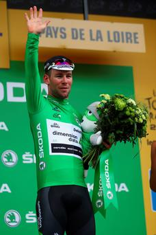 Mark Cavendish grabbed his second victory of the 2016 Tour de France by a matter of inches in Angers.