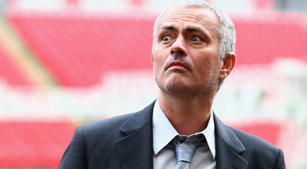 Own man: Jose Mourinho will be determined to exorcise the ghost of Sir Alex Ferguson from Old Trafford