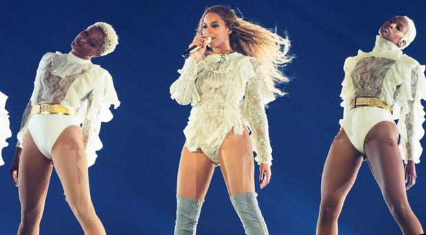 Beyonce performs during the Formation World Tour at Wembley stadium on Saturday, July 2, 2016, in London. (Photo by Joel Ryan/Invision for Parkwood Entertainment/AP Images)