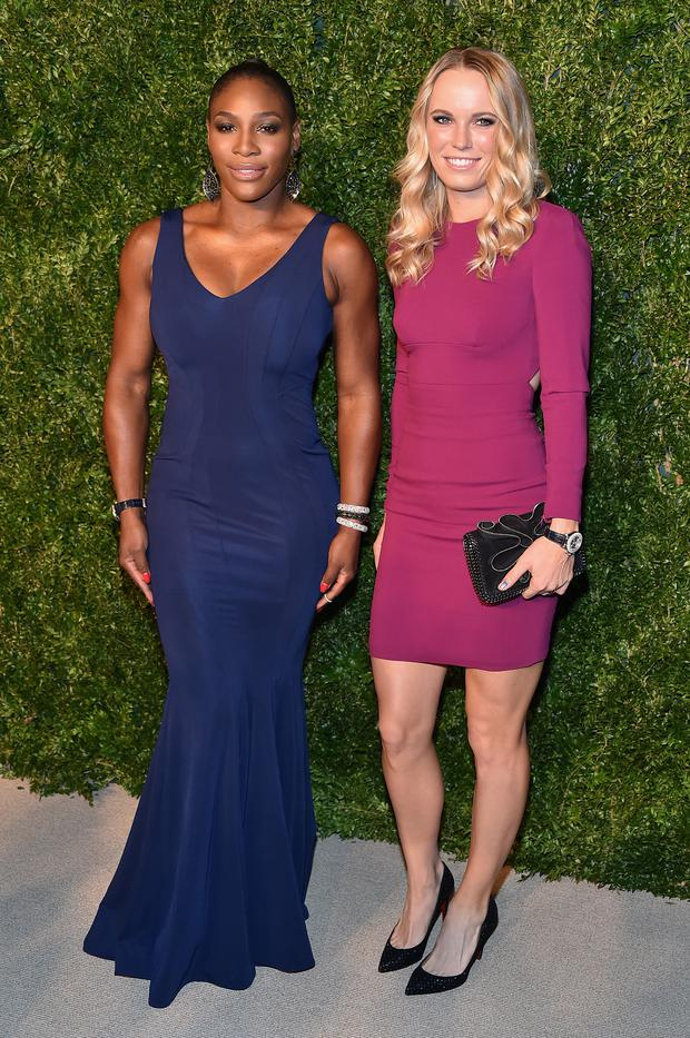 Best pals: tennis stars Serena Williams and Caroline Wozniacki