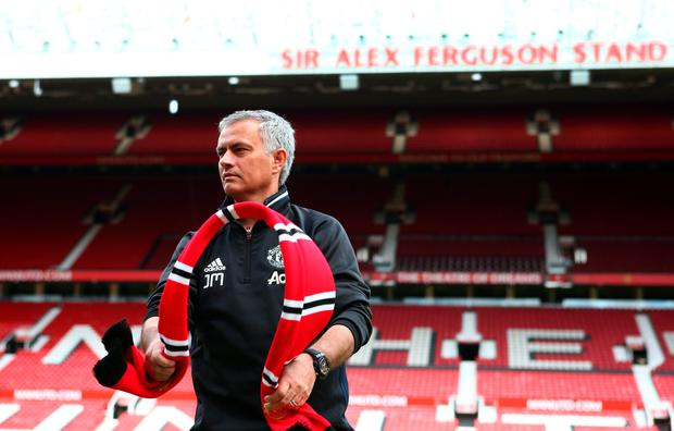 Taking the hotseat: Jose Mourinho faced the media for the first time yesterday as the manager of Manchester United