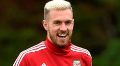 Missing man: Aaron Ramsey is ruled of the crucial clash