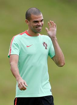 No laughing matter: Pepe is a big concern for Portugal