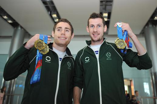 Boys to Brazil: Jason Smyth and Michael McKillop will defend their Paralympic titles later this year
