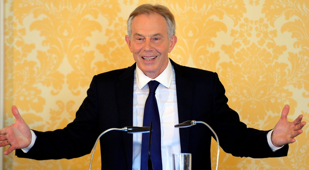 Former Prime Minister, Tony Blair arrives for a press conference at Admiralty House, to responding to the Chilcot report (Photo by Stefan Rousseau - WPA Pool/Getty Images)