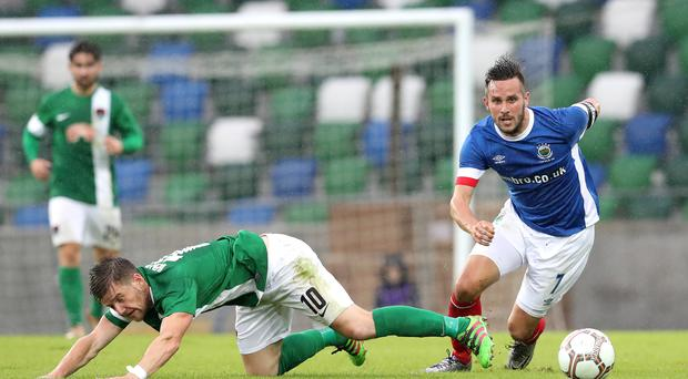 Moving forward: Waterworth insists Linfield will learn from their narrow defeat to Cork in the Europa League first qualifying round first leg at Windsor Park