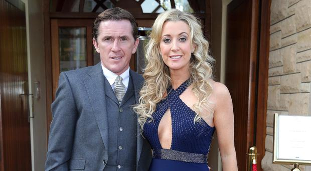 Tony McCoy with his wife Chanelle
