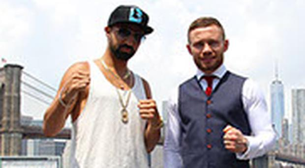 Carl Frampton and former World Champion Paulie Malignaggi in Brooklyn.