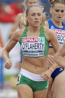 Final countdown: Ulster athlete Kerry O'Flaherty on the way to qualifying for tomorrow's European 3,000m steeplechase final