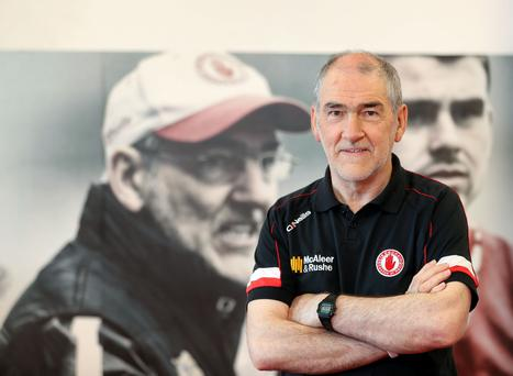 Turning up the heat: Tyrone boss Mickey Harte has questioned why Donegal send a selector onto the pitch so often