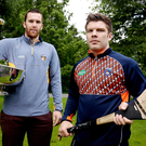 Up for it: Antrim's Conor Carson and Armagh ace Cathal Carville in Belfast's Botanic Gardens