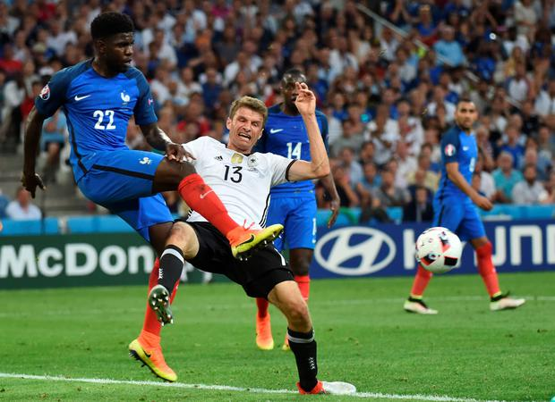 Big impression: Samuel Umtiti has excelled since coming in for Les Bleus