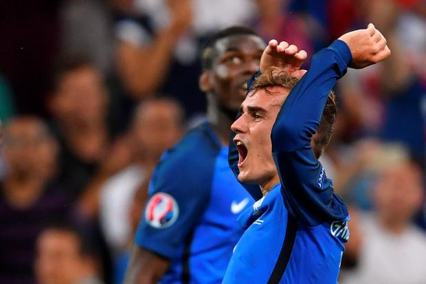 Showing the way: Antoine Griezmann is aiming to emulate Michel Platini and Zinedine Zidane by inspiring France to a major trophy triumph on home soil