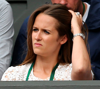 Previous: Andy's wife Kim swore at Tomas Berdych's box last year