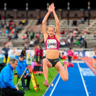 Russian long jumper Darya Klishina in action