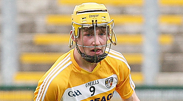Colourful: Antrim's Keelan Molloy contributed to the Minor success